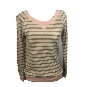 Victoria's Secret Striped Long Sleeve Small Shirt.